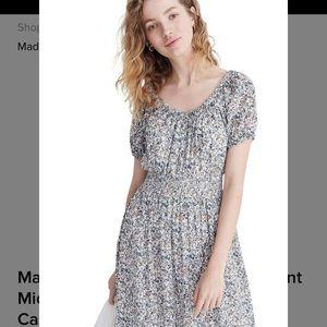 Madewell Smocked Waist Peasant Midi Dress
